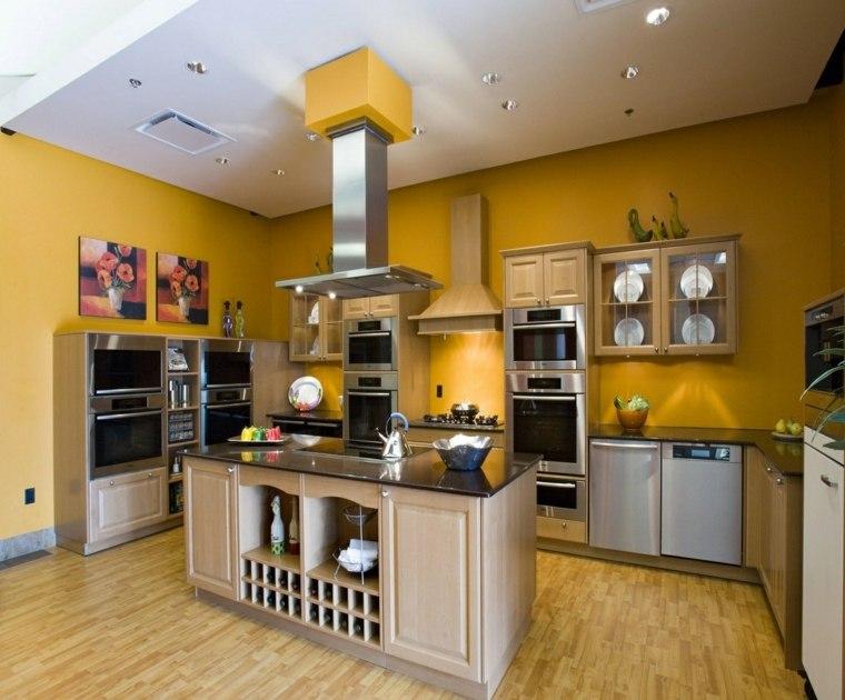 revestimiento cocina-paredes-pintura-diseno-amarilla
