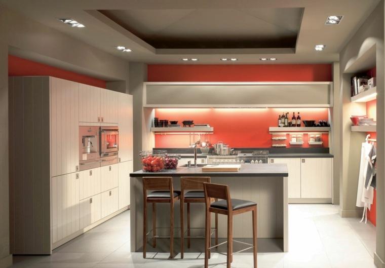 revestimiento cocina-paredes-pintura-diseno-rojo