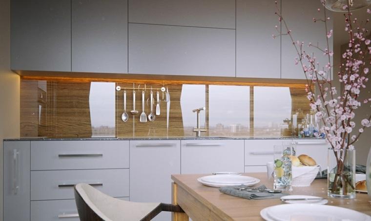 revestimiento cocina e ideas para las paredes y salpicaderos On revestimiento pared cocina