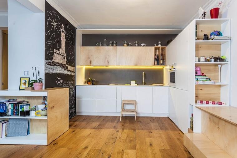 21 genial revestimiento pared cocina im genes - Revestimientos para paredes de cocina ...