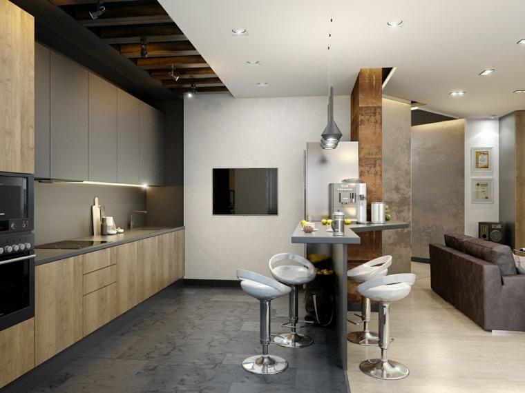 revestimiento pared-cocina-pintura-gris-blanca