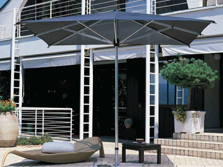 sombrillas jardín-terraza-casa-diseno