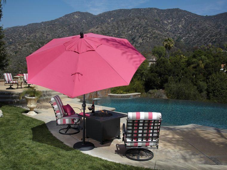 sombrillas jardín-terraza-estilo-color-rosa