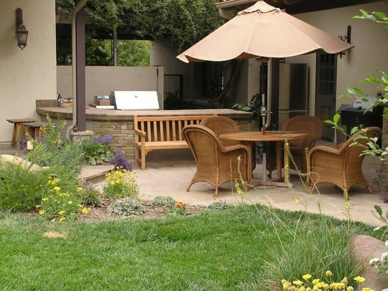 sombrillas jardín-terraza-lugar-descanso-confortable