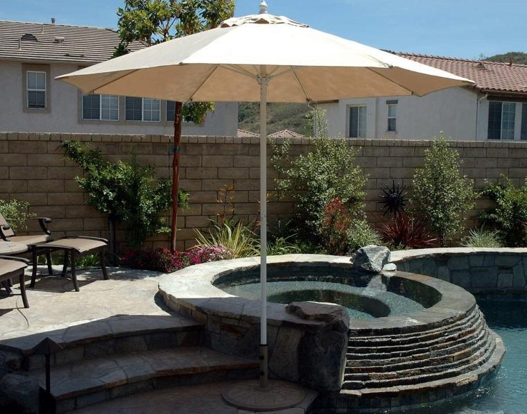 sombrillas jardín-terraza-moderrnidad-exteriores