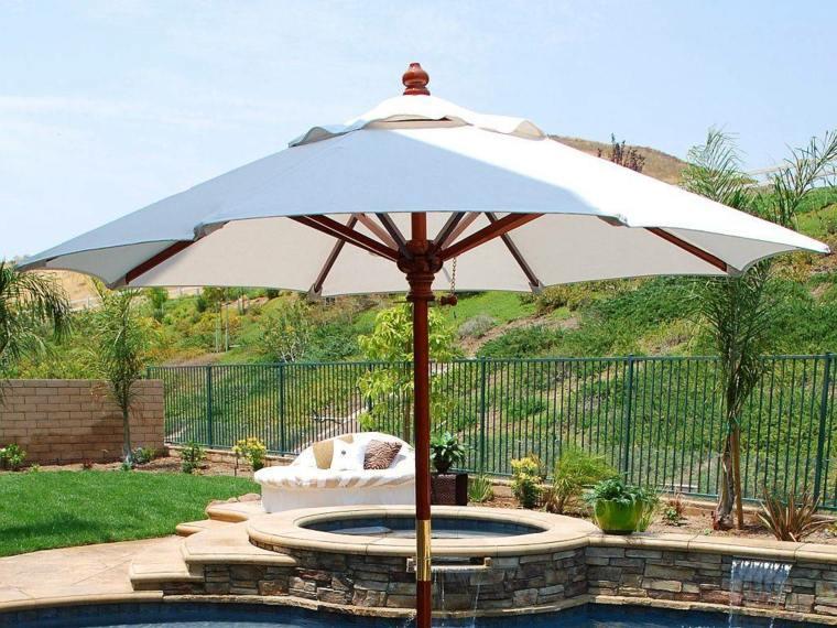 sombrillas jardín-terraza-piscina-jacuzzi-opciones