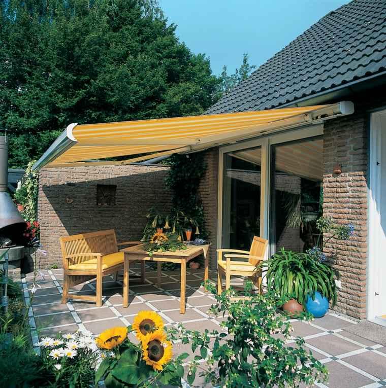 toldos de jardin casas ambientaciones rigidas