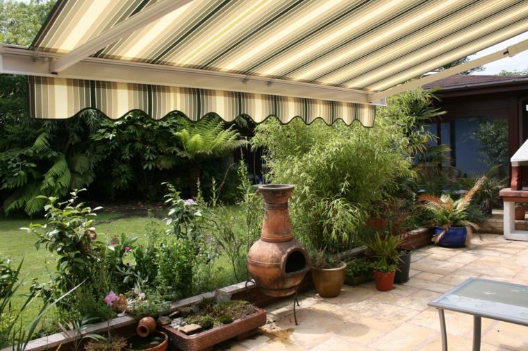 toldos de jardin rustico impresionantes espacios