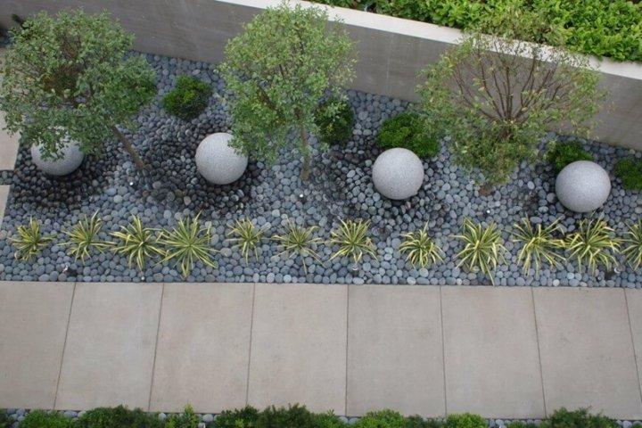 vista superior jardin moderno