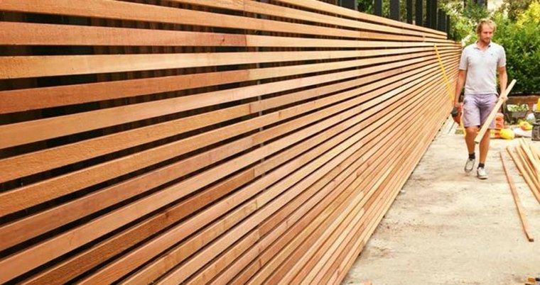 cercas de madera jardines