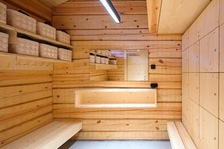 aspecto paredes remosadas madera clara