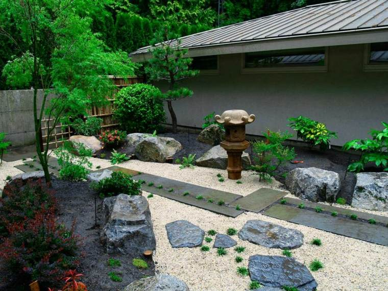 originales ideas para diseñar jardines Zen