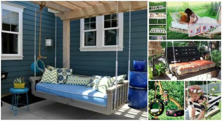 ideas para columpio de jardín