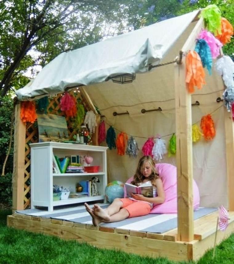 casitas de jardin para niños refugios