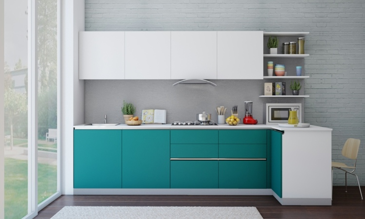 colores claros muestra cocina funcional