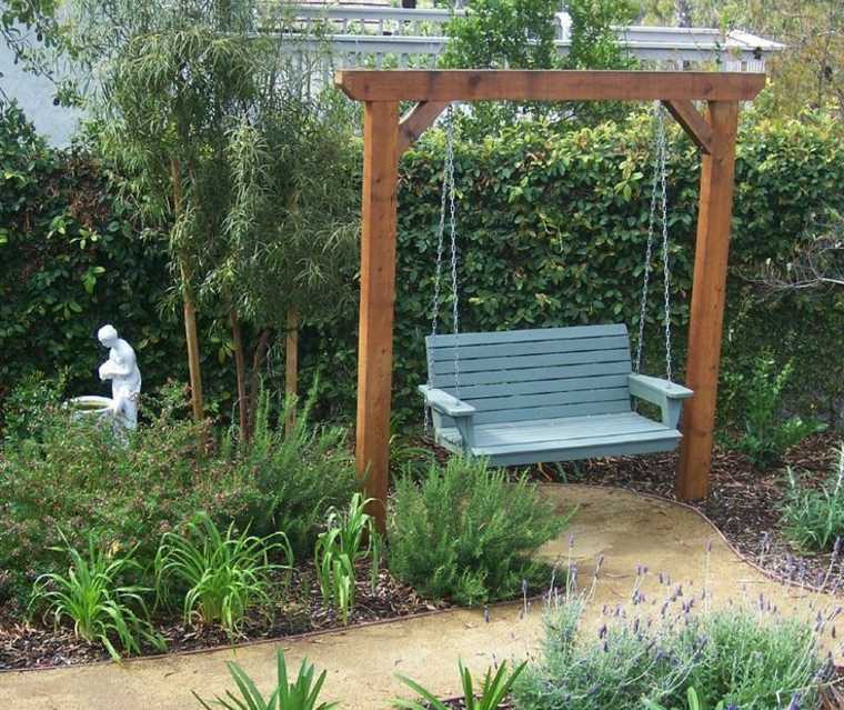 columpio de jardín vintage