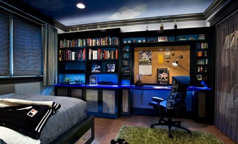 dormitorios juveniles-decoracion-azul