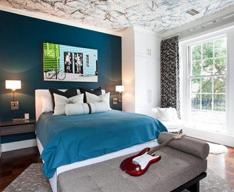 dormitorios-juveniles-decoracion-techo-original