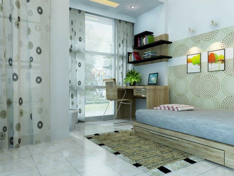 dormitorios juveniles-muebles-madera