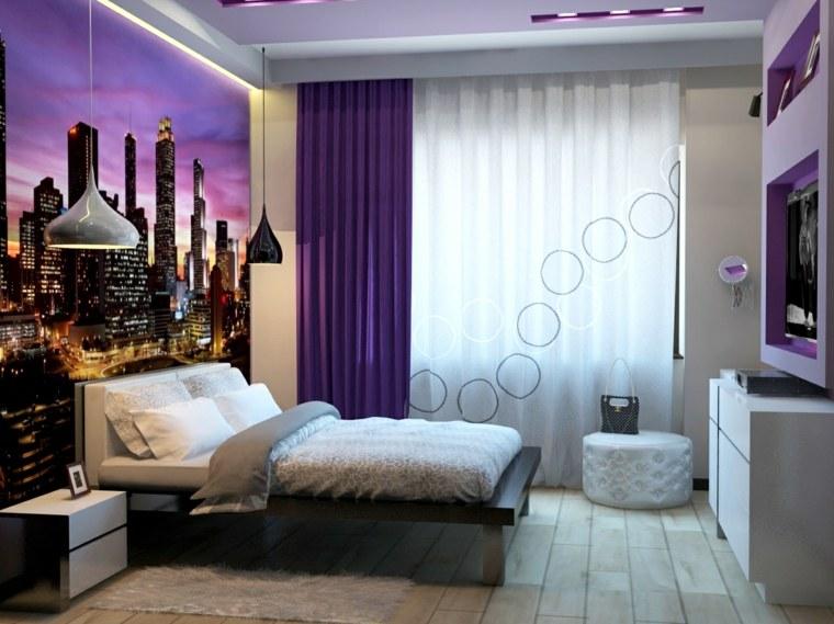 dormitorios juveniles-pared-bella-opciones-modernas