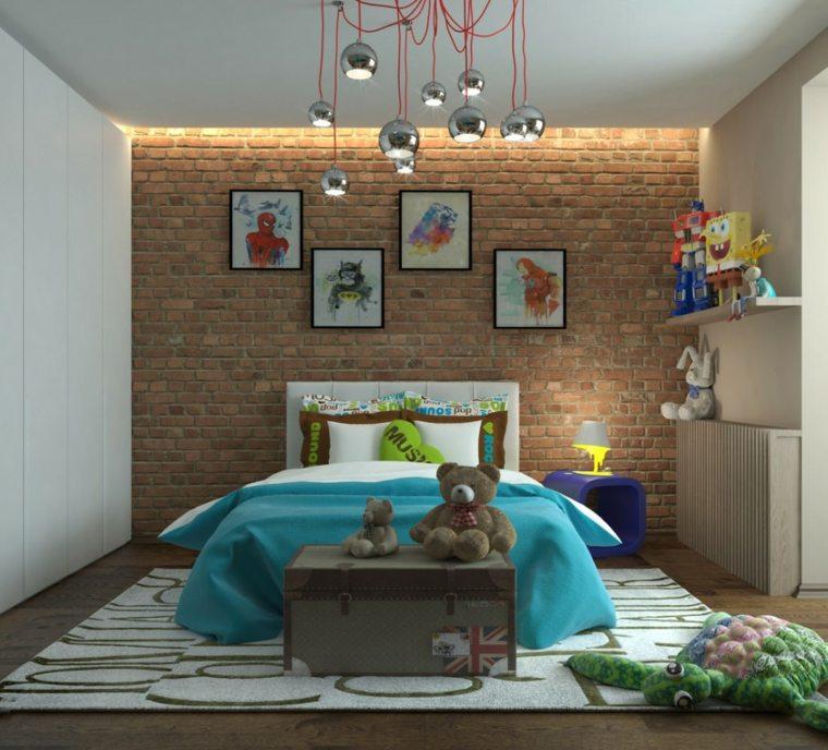 dormitorios-juveniles-pared-ladrillo-estilo