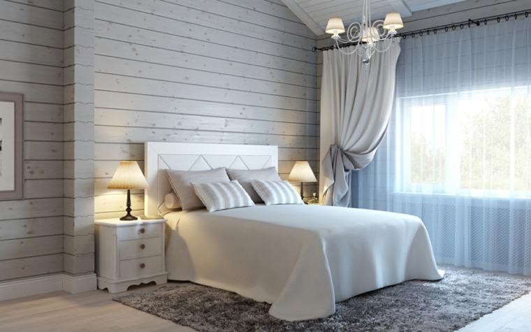 dormitorios juveniles-pared-madera-opciones