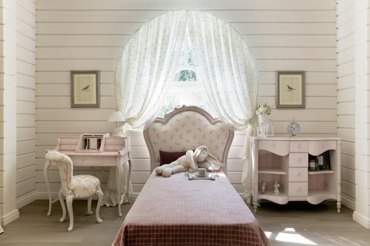 dormitorios modernos-juveniles-cama-dosel