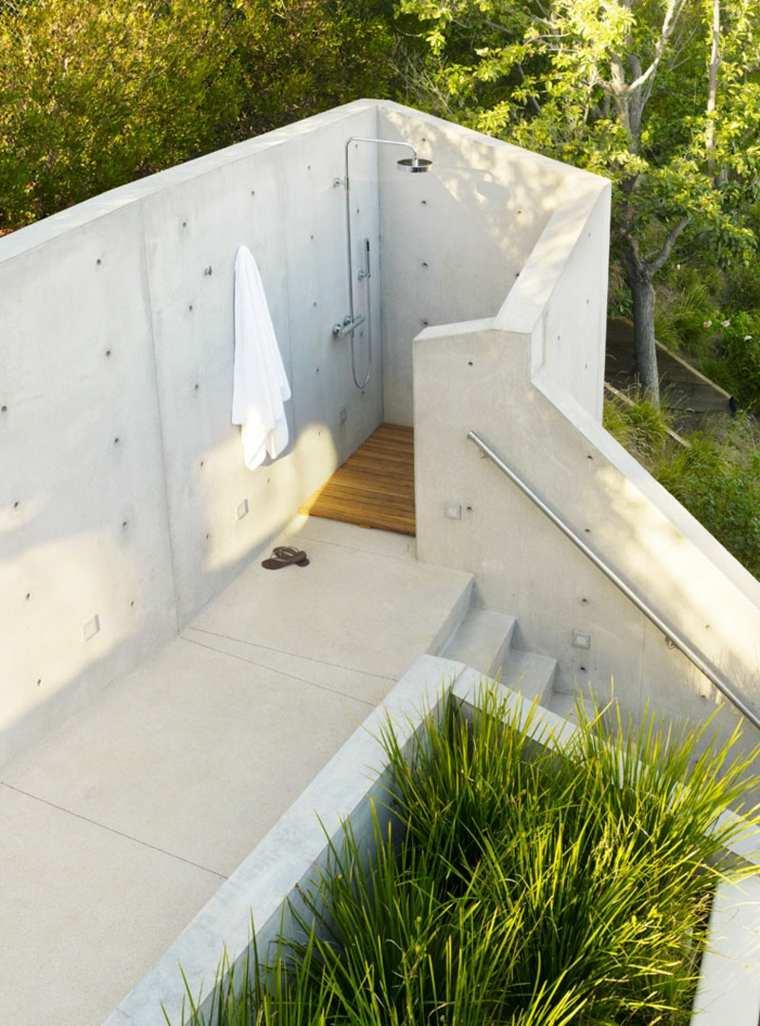 ducha diseño hormigon escalones lados