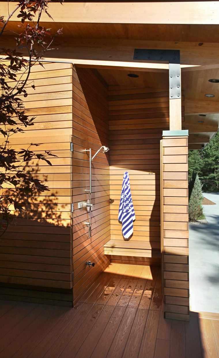 ducha diseño madera concepto especial