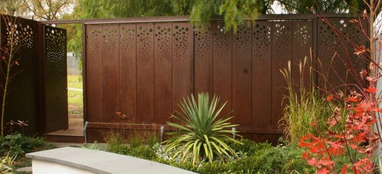 vallas de jardin acero