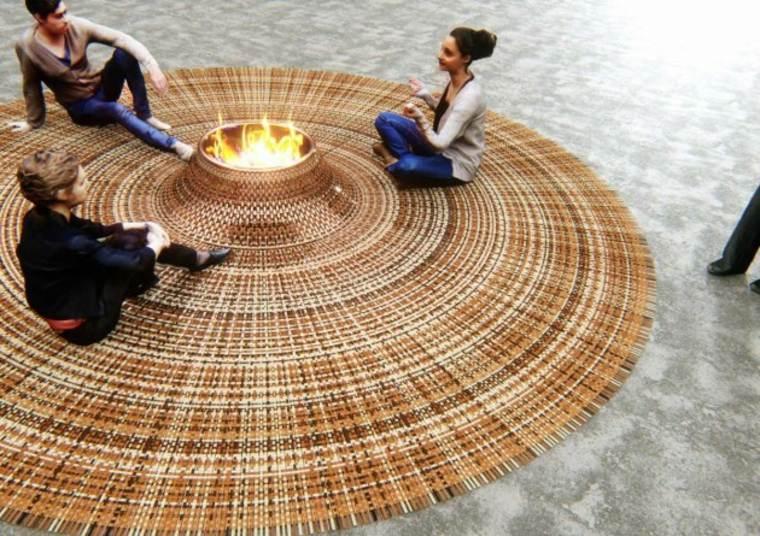 alfombra pozo de fuego