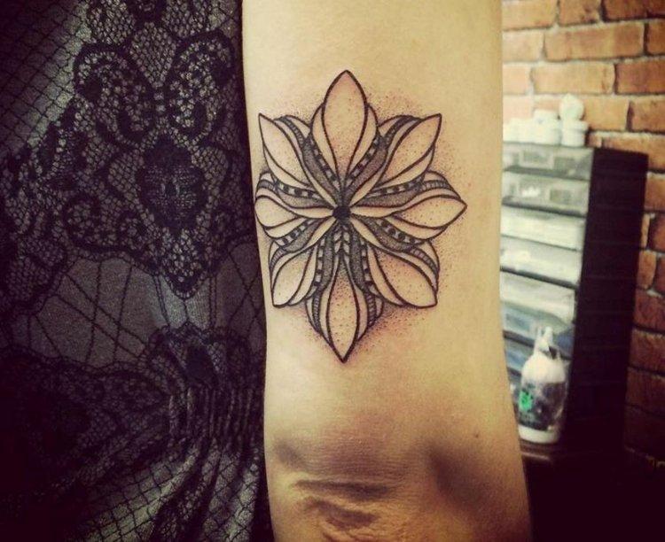 flores espacio trasero brazo