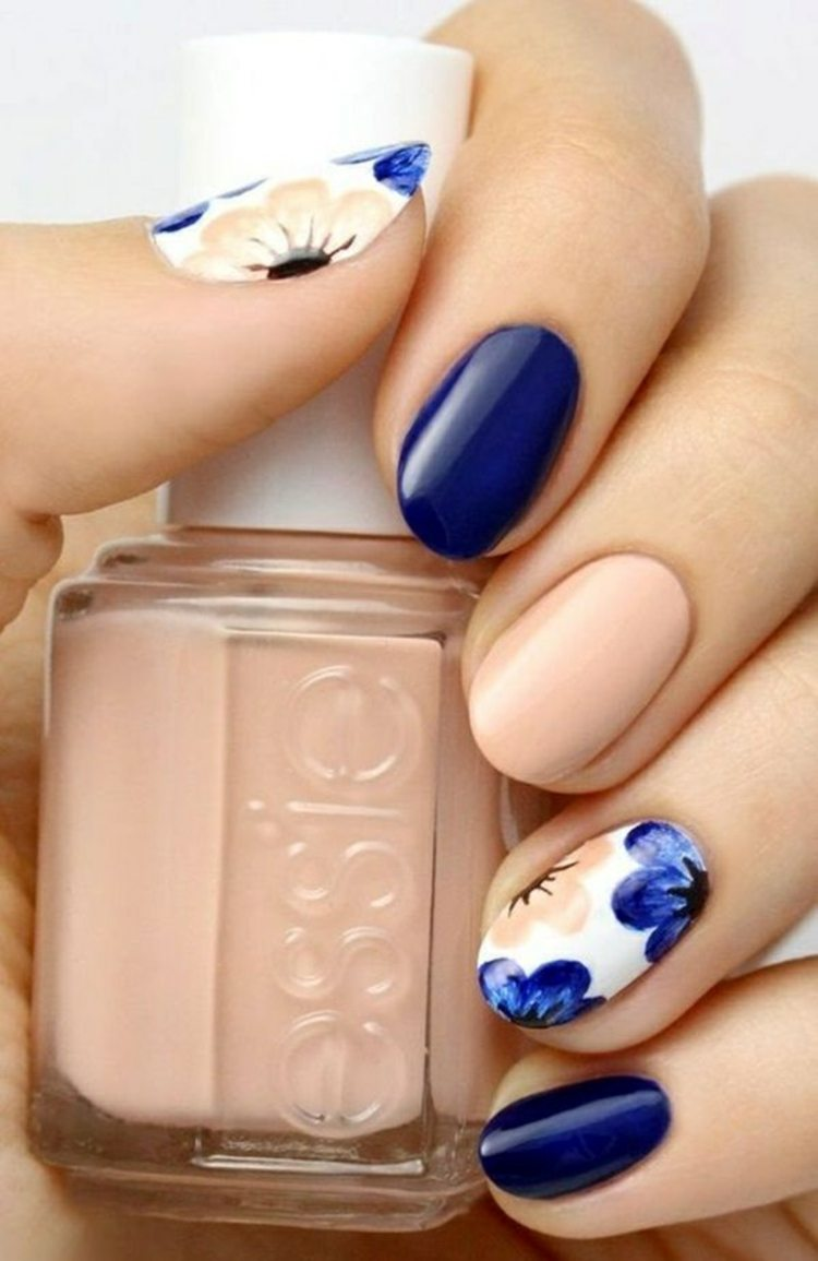 flores estilo azul decoraciones unas