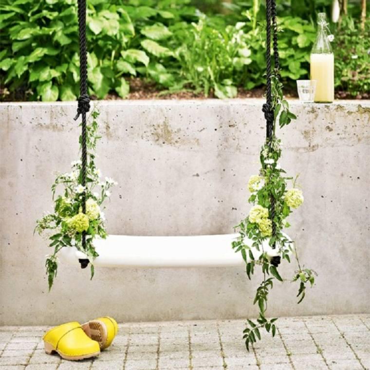 diseños de columpios de jardin