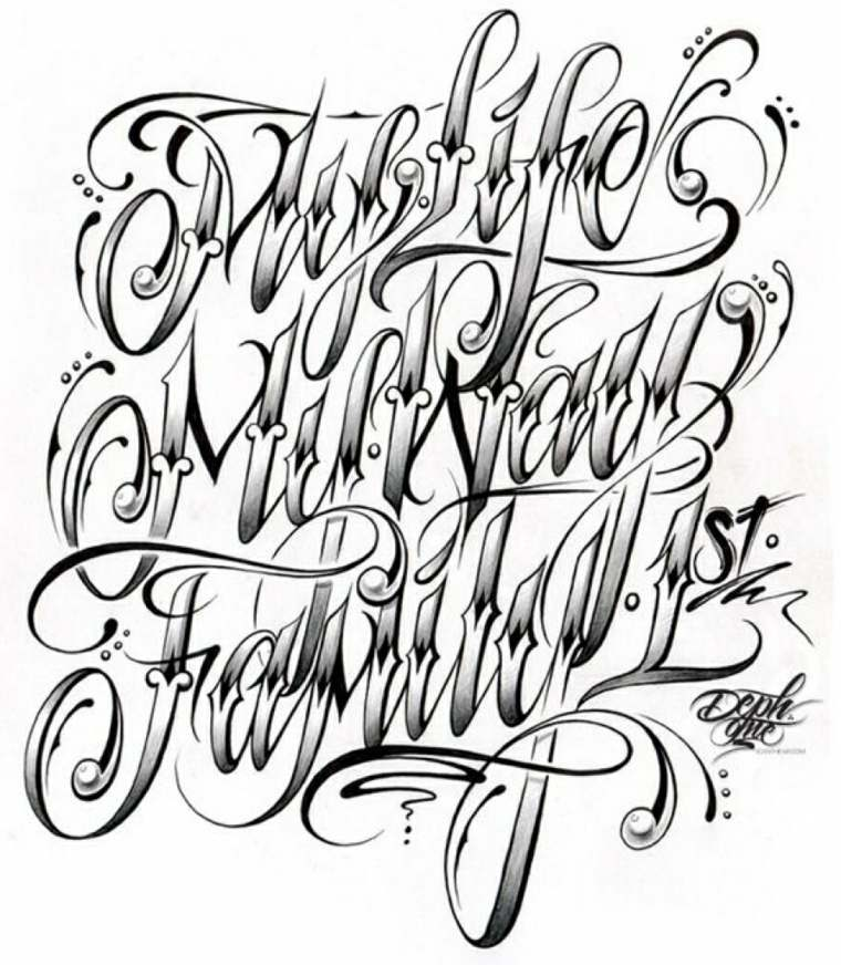 Letras Para Tatuajes Los Tipos Entre Los Que Podemos Elegir - Letras-para-tatuar