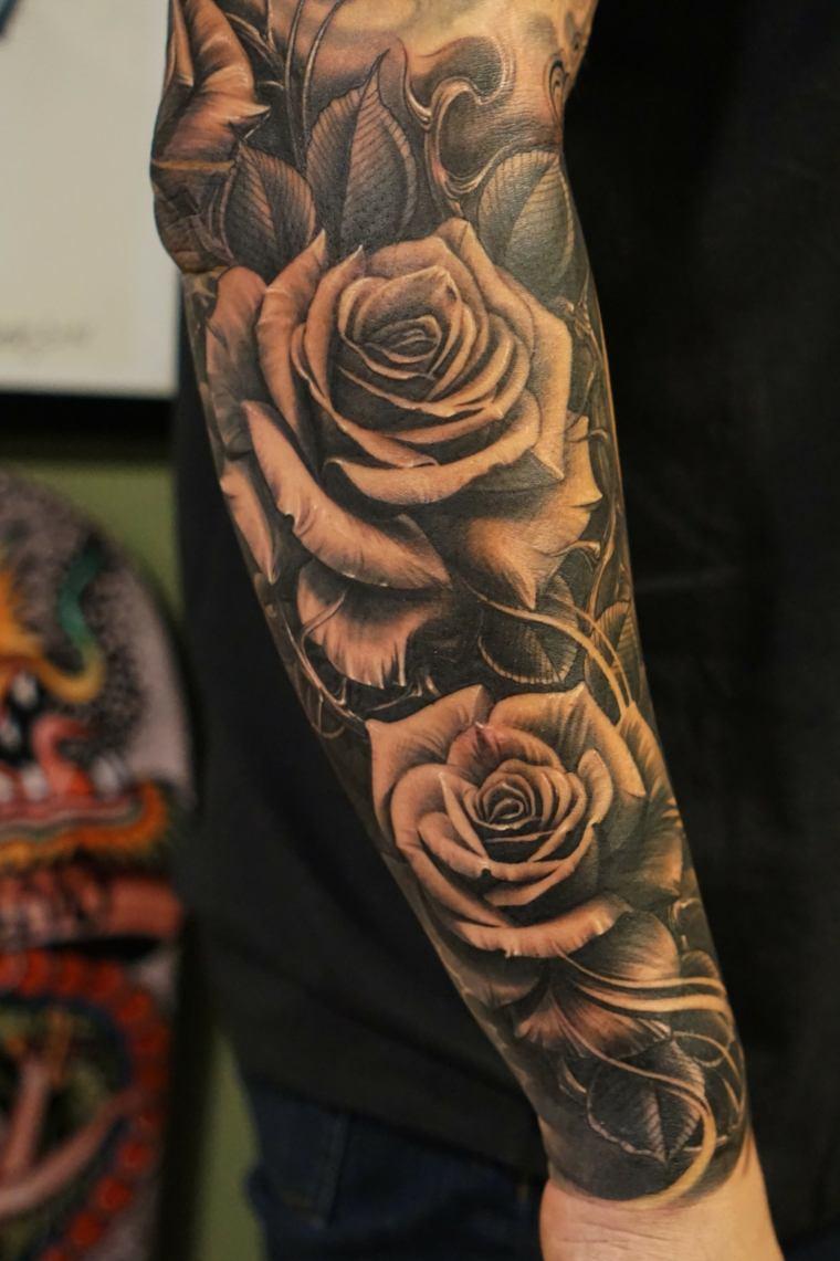 media manga tattoo hombres