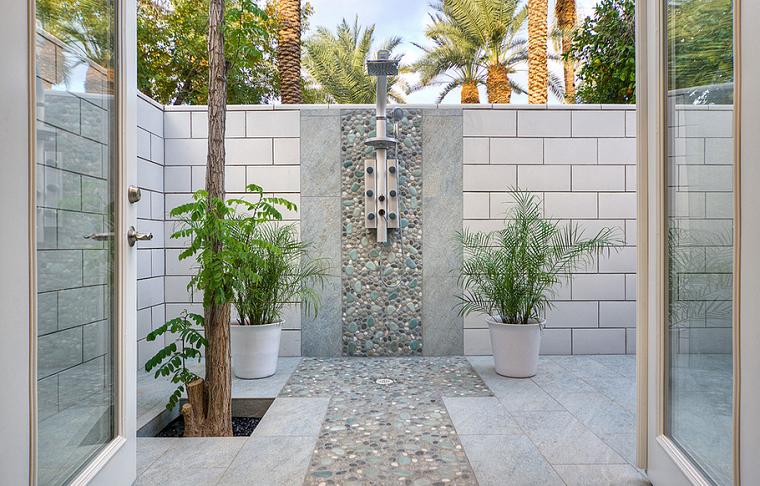 muros ladrillos exteriores duchas