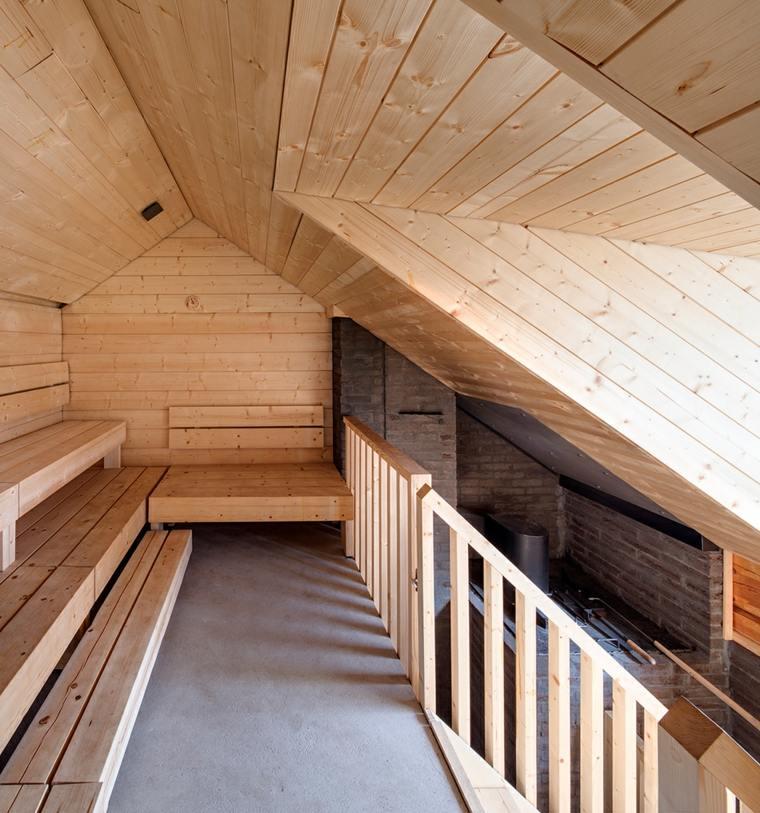 niveles altos sauna amplia fresca