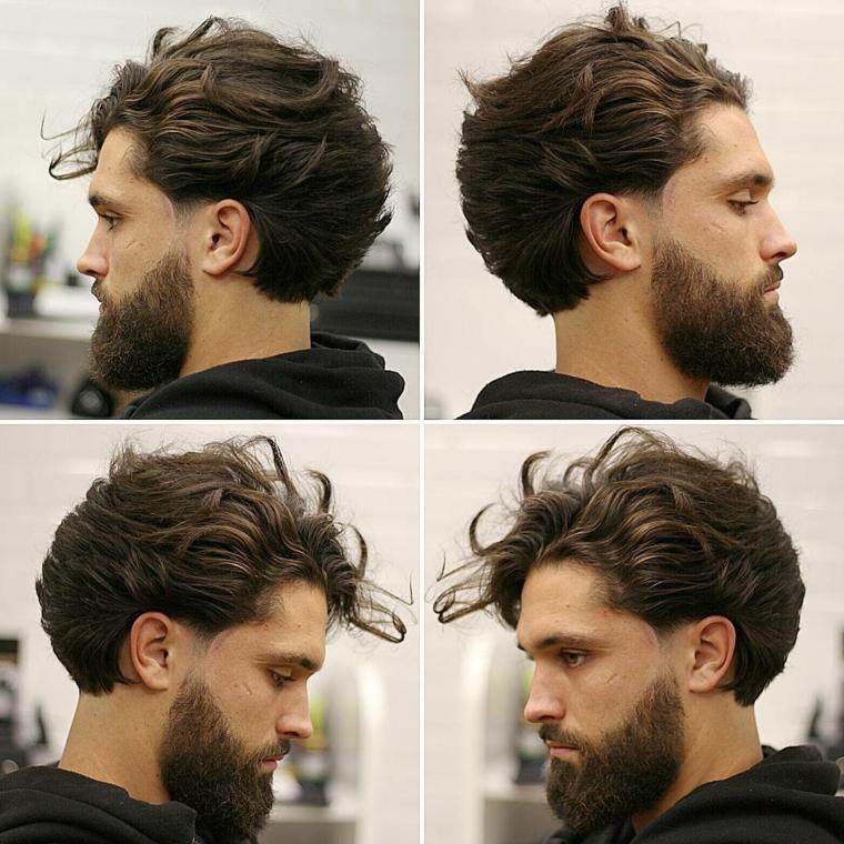 peinados modernos hombre-pelo-largo-barba