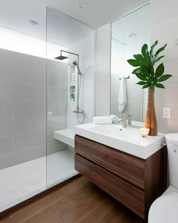 plantas contrastantes bellas muebles bano