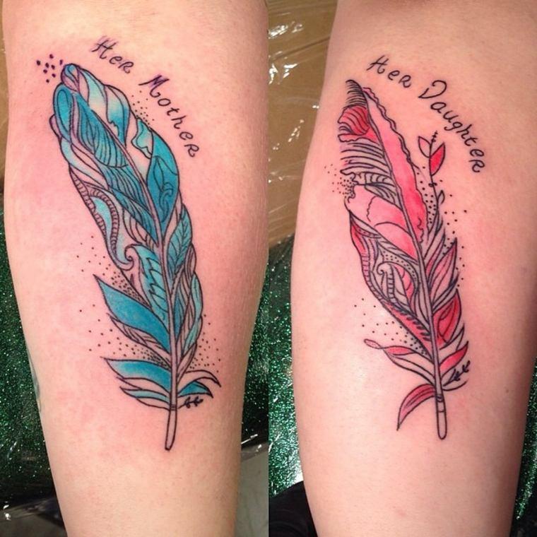 plumas para madre e hija