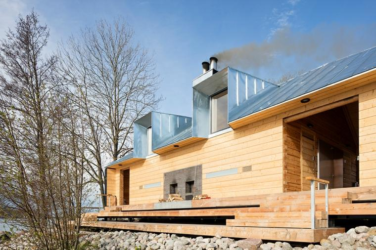 sauna construccion madera atornillada