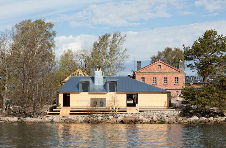 sauna moderna madera laterales