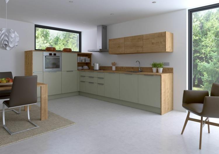 simple cocina minimalista madera