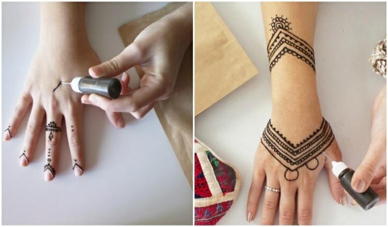 tatuaje de henna manos