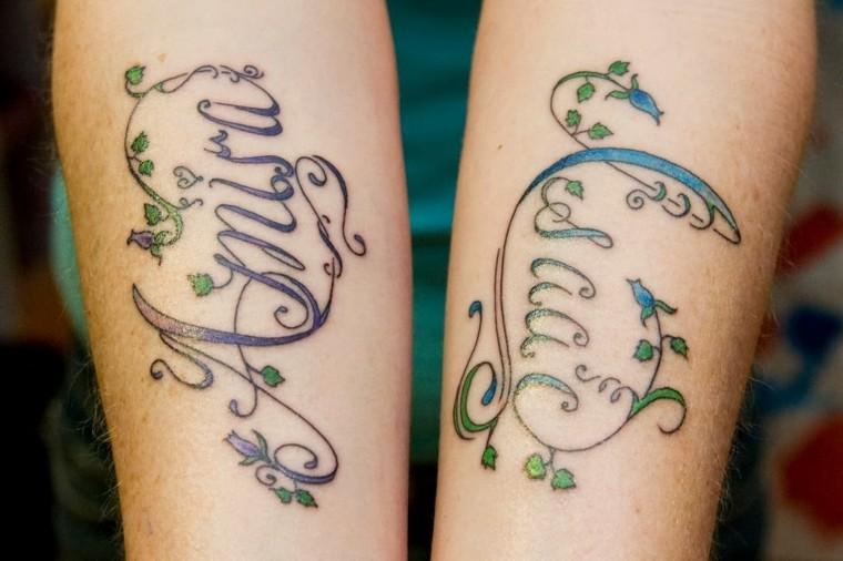 tatuaje de nombres