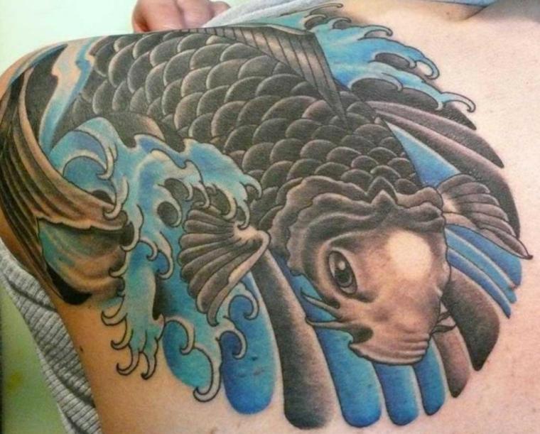 pez Koi negro