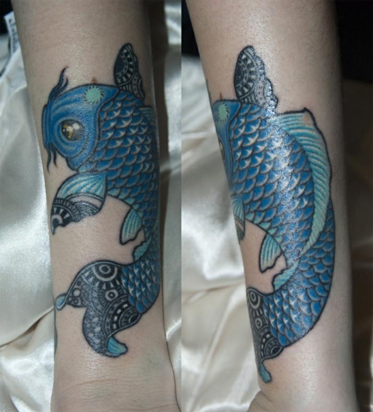 significado de los tatuajes de peces Koi