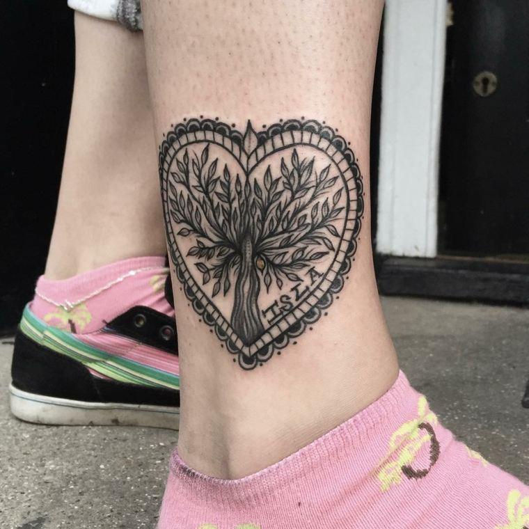 tatuaje gemelo corazon