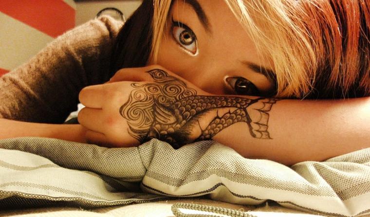 tatuajes de peces Koi